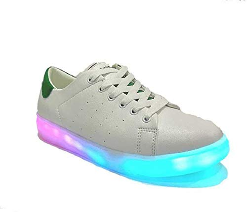 Tiger Rainbow LED Lights Shoes App Controller Bluetooth with Music Dancing/Running Shoes for Men (Numeric_7_point_5, White)