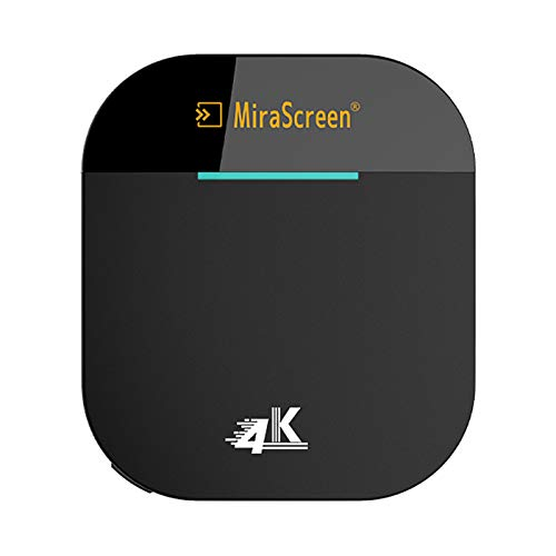 Irfora G5 Plus 2.4G/5G WiFi Display Receiver 4K UHD TV Stick Miracast DLNA AirPlay Screen Mirrioring for iOS Android Smart Phone Tablet PC Black