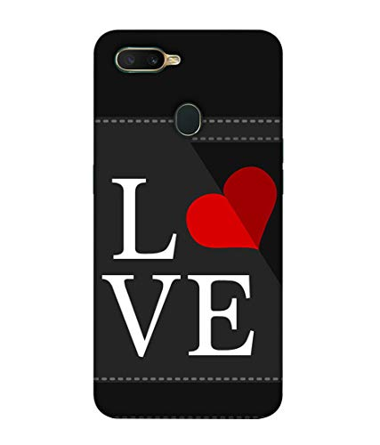 S SMARTY Square Love Printed Hard Case Mobile Back Cover for Oppo A7
