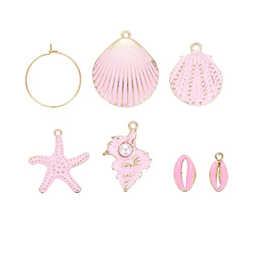HEALLILY 24 Pcs Alloy Shell Earrings Ornaments Crafts Pendants Assorted Earrings Decoration for Girl Women DIY Jewelry Making
