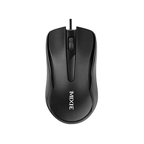Mixie (Wired, Plug and Play USB Mouse, 1000dpi, Medium and Large Mouse, Comfortable to Hold and Comfortable to Work (Male Recommended)