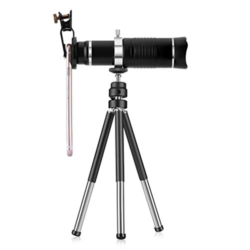 Uj Enterprise HD Mobile Phone Telephoto Lens 20XTripod Zoom Optical Telescope Camera Lens with Clips Universal for All Phone