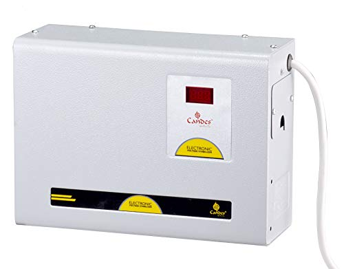 Candes Crystal 4kVA for 1.5 Ton AC (150V to 285V) Voltage Stabilizer with Wide Working Range Best for Inverter AC, Split AC or Windows AC Upto 1.5 Ton with 6 Years Warranty