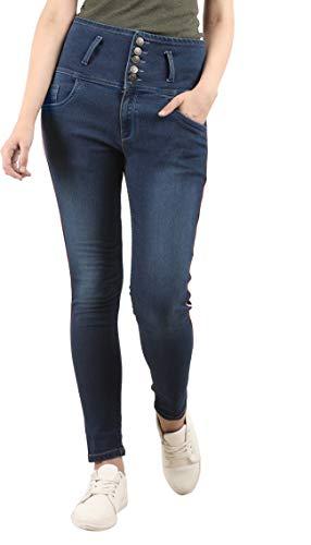 Amyka Women high Waist Jeans Blue