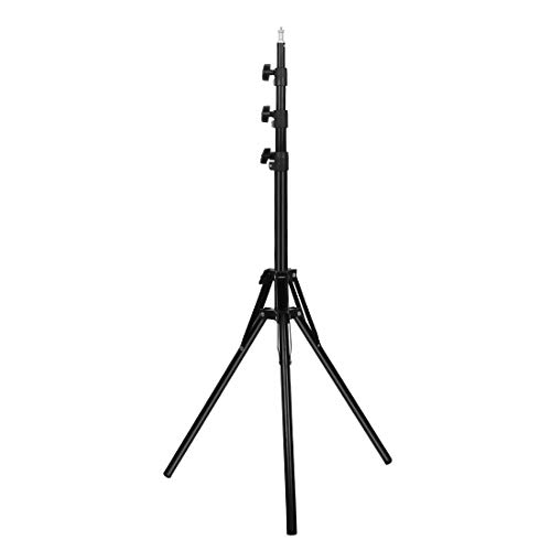 YKDY in Reverse Foldable 4 Sections 2m Height Tripod Mount Holder for Vlogging Video Light Live Broadcast Kits(Black) (Color : Black)