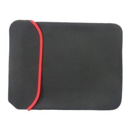 "LipiWorld Reversible Black & Red Durable Neoprene Notebook Laptop Case Sleeve Cover Fit 15.4"" 15.6 inch ACER Apple ASUS Dell Fujitsu HP Lenovo Panasonic Samsung Sony Toshiba Gateway MacBook"