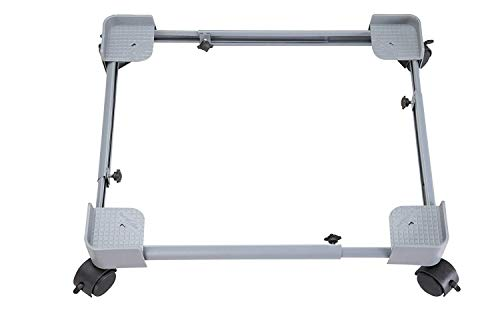 Lepose Adjustable Heavy Duty Metal Stand/Trolley for Front/Top Load Washing Machines/Refrigerators/Dishwashers (Size 16