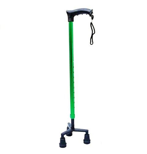 ALUMINIUM TRIPOD WALKING STICK (GREEN)- NEOSAFE