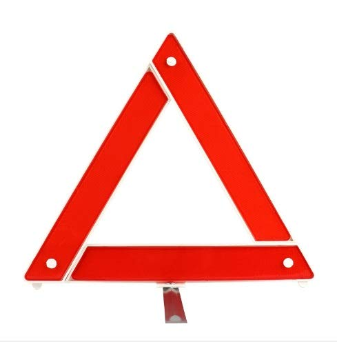 Kwish Present Safety Reflective Emergency Folding Triangle Failure Warning Sign Vehicle Outdoor Emergency Tripod car Safety Supplies (CR8625)