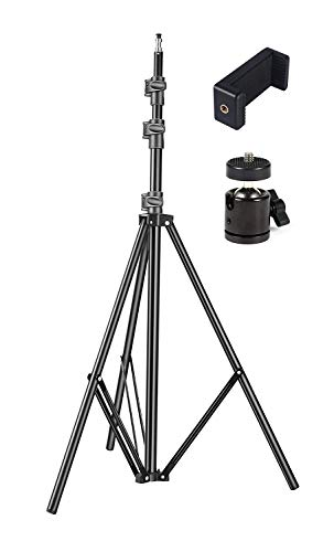 GiftMax® Tripod Kit with 9 Ft Light Stand, Mobile Holder, Mini Ball Head for Indoor, Outdoor and Travel Photo Video Shoots