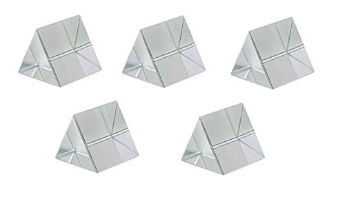 ERH India (Pack of 5) 38 mm Glass Prism Optical Equilateral 38 mm Prism for Science Experiments kit