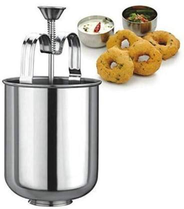 Plenzo Stainless Steel meduvada makar for Perfectly Shaped and Crispy vada Machine