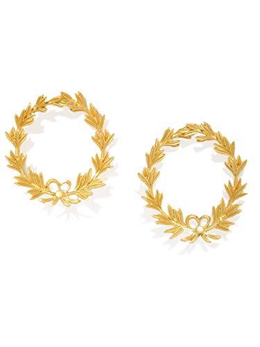 ZAVERI PEARLS Gold Tone Non-Precious Metal Base metal Fusion Stud Earring For Women-ZPFK8134