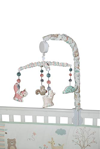 abracadabra Colorful Musical Mobile, Gentle & Soft Lullaby, Develops Visual & Auditory Senses, Winding Mechanism, No Batteries Required, 66 cm x 33 cm x 33 cm (Bambi & Friends)