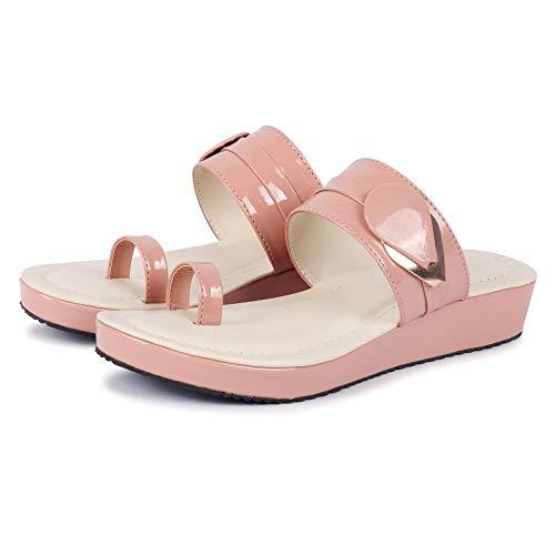 FASHIMO Women's Flats Wedges Gola2-Pink-36