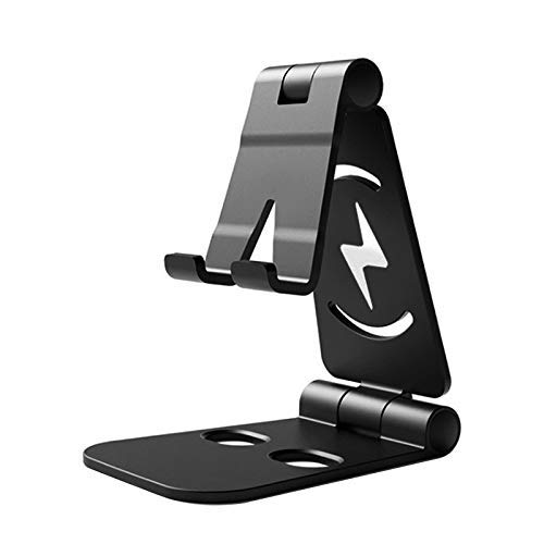 Remixmart Adjustable Multi-Angle, Foldable Mobile Stand/Holder Dock Stand for Cell Phones,Tablets and Laptops (Black) ABS Plastic