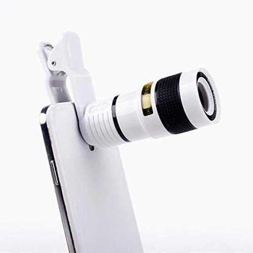 Uj Enterprise 14X Zoom HD Telephoto Wide Angle HD Telescope Lens with Blur Background and Universal Clip Holder - (White Colour)