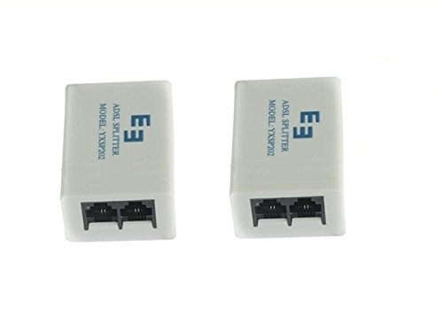 Teflon EE YXSP202 ADSL Internet Phone Splitter Broadband Modem Box, Pack of 2