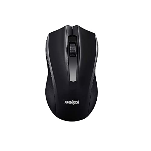 Frontech F-3797 Optical Wired Mouse | 1000 DPI Sensor | Plug & Play USB Mouse | Black