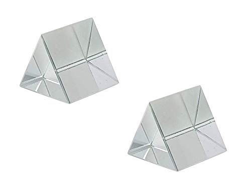 ERH India (Pack of 2) 38 mm Glass Prism Optical Equilateral 38 mm Prism for Science Experiments kit
