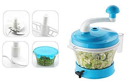 harvienterprise New Manual Food Chopper Atta Maker Dough Kneader 4 in 1 Vacuum Base (Multi Color)