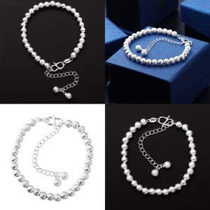 ELECTROPRIME D021 Geometric Shape Ladies Matte Ball Bracelet Bangle Wrap Wrist Ring Jewelry