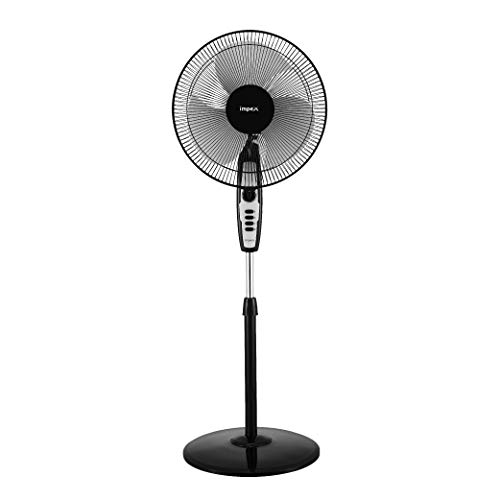 Impex BREEZE-HS01 High Speed 3 Blade Pedestal Fan With 400 mm Sweep & 2250 Rpm (120 Watts,Black)