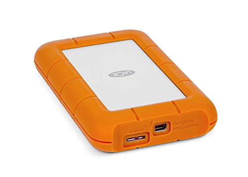 LaCie Rugged 1TB Compact Portable External Hard Drive with USB 3.0 and Thunderbolt Port