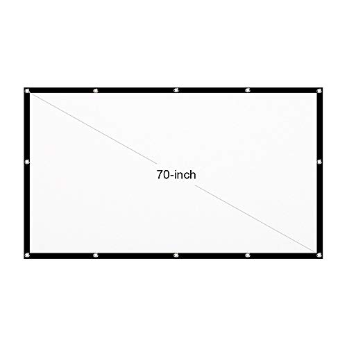 Tooarts TM125 60-inch Portable HD Projector Screen 16:9 Projection Screen Foldable Thick Durable for Outdoor Home Theater