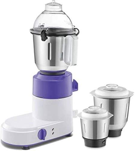 Usha Optima Pro MG 3754 500 Mixer Grinder Lavender White, 3 Jars)(Pack of 1)