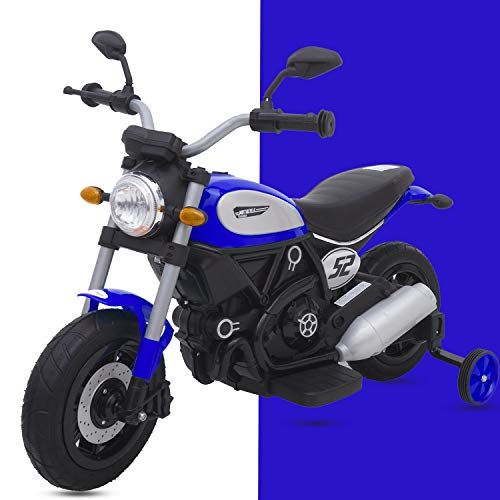 Baybee Triumph Battery Operated Ride On Bike for Kids-Toddler Bikes for Babies-Children Bike-Baby Bike with Rubber Wheels-Rechargeable Electric Bike for Kids Suitable Babies for Boys & Girls (Blue)