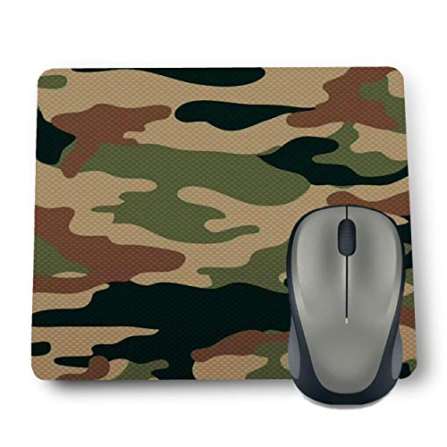 Shop-buz Printed Non Slip Rubber Military Pattern MP30 Designer Mouse Pads (220 mm x 180 mm x 3 mm) Multicolor
