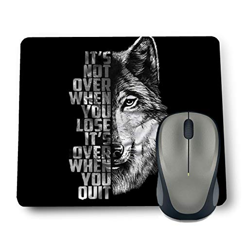 Shop-buz Printed Non Slip Rubber Designer Mouse Pads for Quotes/Pattern (220 mm x 180 mm x 3 mm) Multicolor (Wolf Quotes 06)