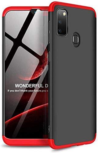 Axxeum GKK 3 in 1 360 Degree Full Front & Back Protection Ultra Slim Shield Phone Case Cover for Samsung M 30S - (Red)