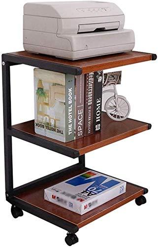 INDIAN DECOR. 45419 Printer Racks Printer Stand Learning Room Storage Rack Mobile Storage Rack Microwave Shelf Home Three-Layer Printer Shelf Fax Machine (Size : 50 * 40 * 70cm