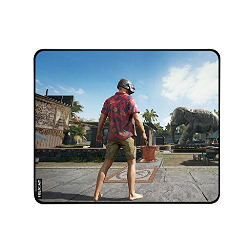 Frenemy Mouse Pad, Water Resistance Coating Natural Rubber Gaming Mouse Pad with Ergonomic Surface and Non Slippary Rubber Base with 3MM Thickness for Long Life