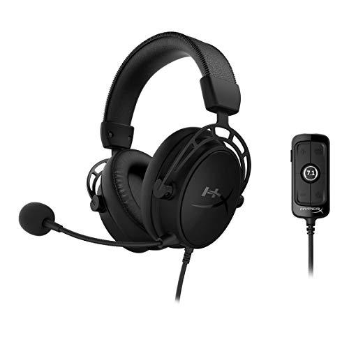 HyperX Cloud Alpha S Gaming Headset 7.1 Surround Sound Bass Adjustment Slider - Black (HX-HSCAS-BK/WW)