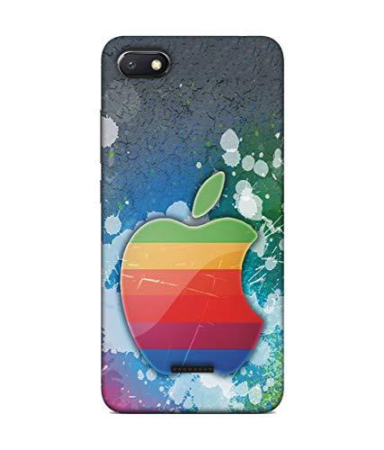 S SMARTY Designer Printed Plastic Mobile Back Case Cover Redmi 6A (Colourfull Apple)