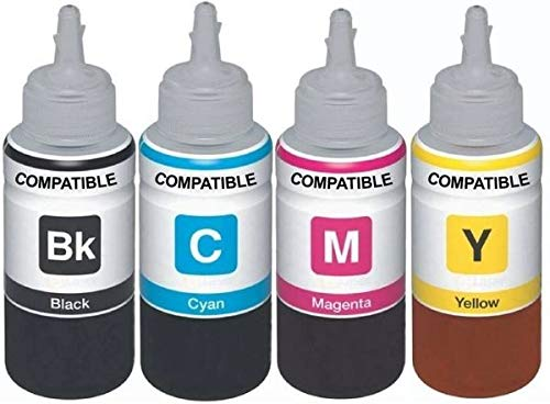 Dubaria Refill Ink for Use in Canon Compatible with Canon 2700B Ink Cartridges - Cyan, Magenta, Yellow & Black - 100 ML Each Bottle