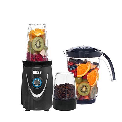 Boss Nutri Plus Nutri-Blend 550 Watts Blender/Mixer/Smoothie Maker, 3 Jars (Grey)