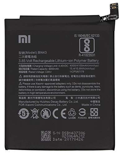 NMRA Enterprises National Mobile Related Accessories NMRA Mobile Battery BN43 Compitable Battery for Xiaomi Mi Redmi Note 4 Xiaomi Mi 4100mAh BN-43