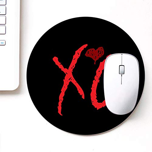 DASM United UVDesigner Printed Round Mouse Pad for Laptop n Computer | XO | Mousepad for Gamers | Gaming Mousepad