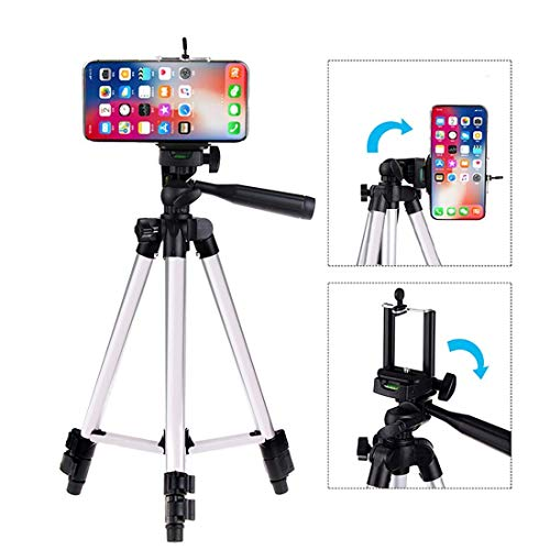 House of Sensation 3110 Tripod Stand for Phone and Camera Adjustable Aluminium Alloy Tripod Stand Holder for Mobile Phones & Camera,Photo/Video Shoot
