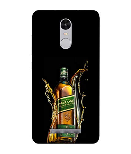 S SMARTY Designer Printed Plastic Mobile Back Case Cover for Redmi Note 3 (Green Label Whisky)