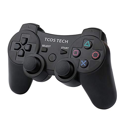 TCOS TECH Compatible with PlayStation 3 PS3 Wireless Controller - Black