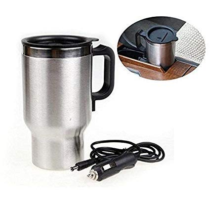 Swastik Steel Travel Outdoor Electric Mug 12V Car Charging Electric Kettle Stainless Steel Travel Coffee Mug Cup