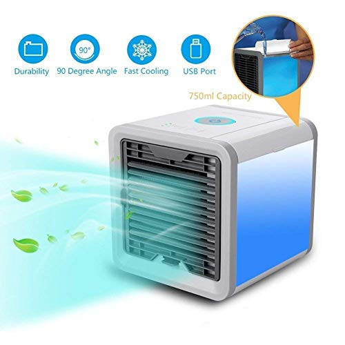 FD Creation Portable Mini USB Personal Space Humidifying Cube Table Top Air Cooler for Indoor and Outdoor (Multicolour)