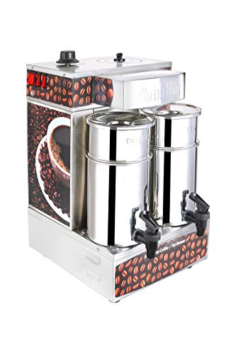Amirtha Fresh Filter Coffee and Tea Brewer (Silver)