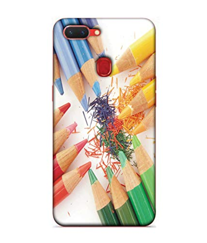S SMARTY Colourfull Penciles Printed Hard Case Mobile Back Cover for Realme 2