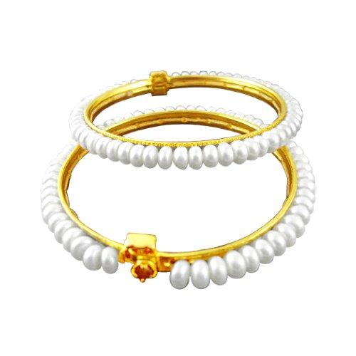 Sri Jagdamba Pearls Dealer White Pearl Bangles